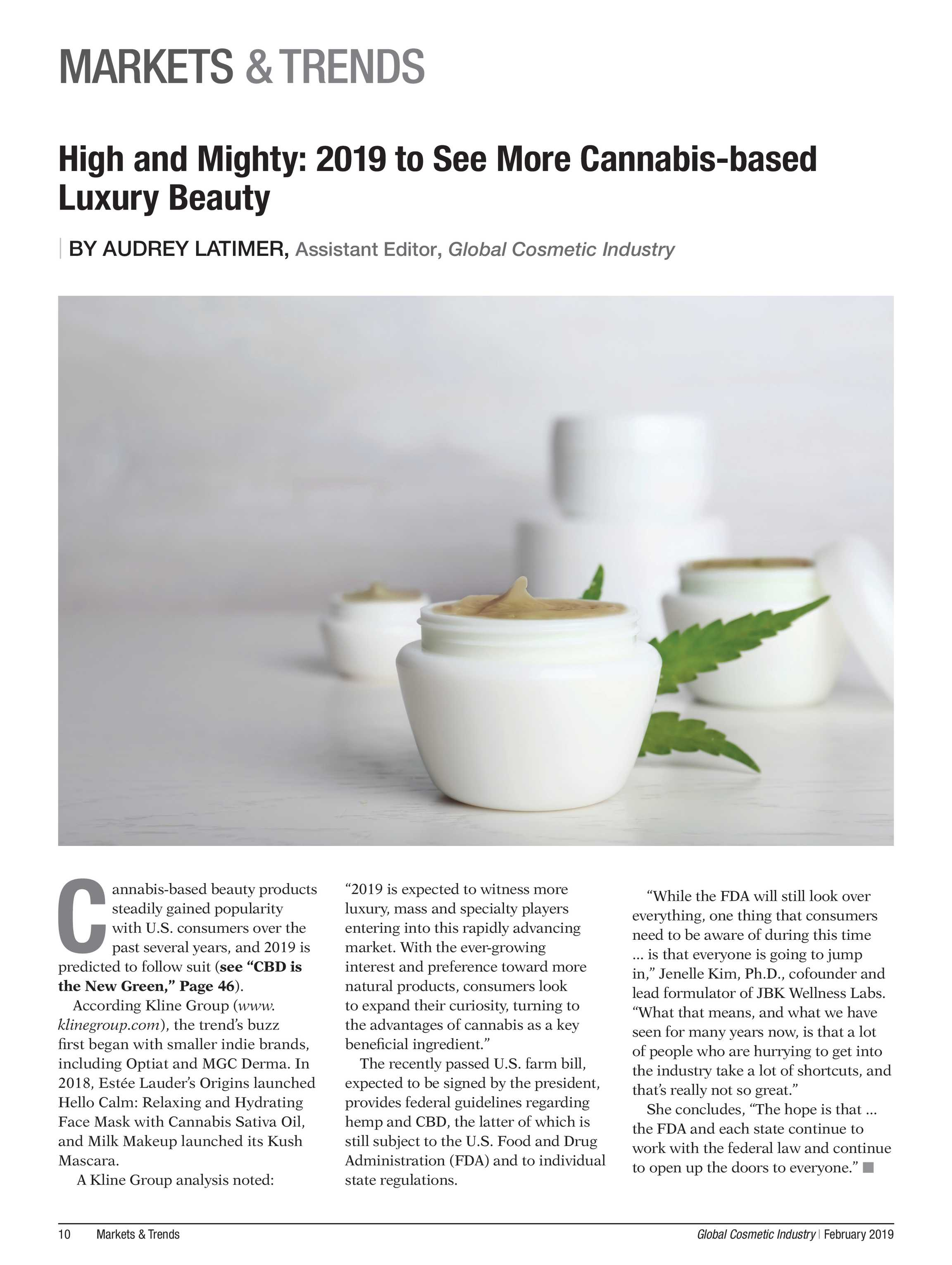 Global Cosmetic Industry Magazine - February 2019 - page 10