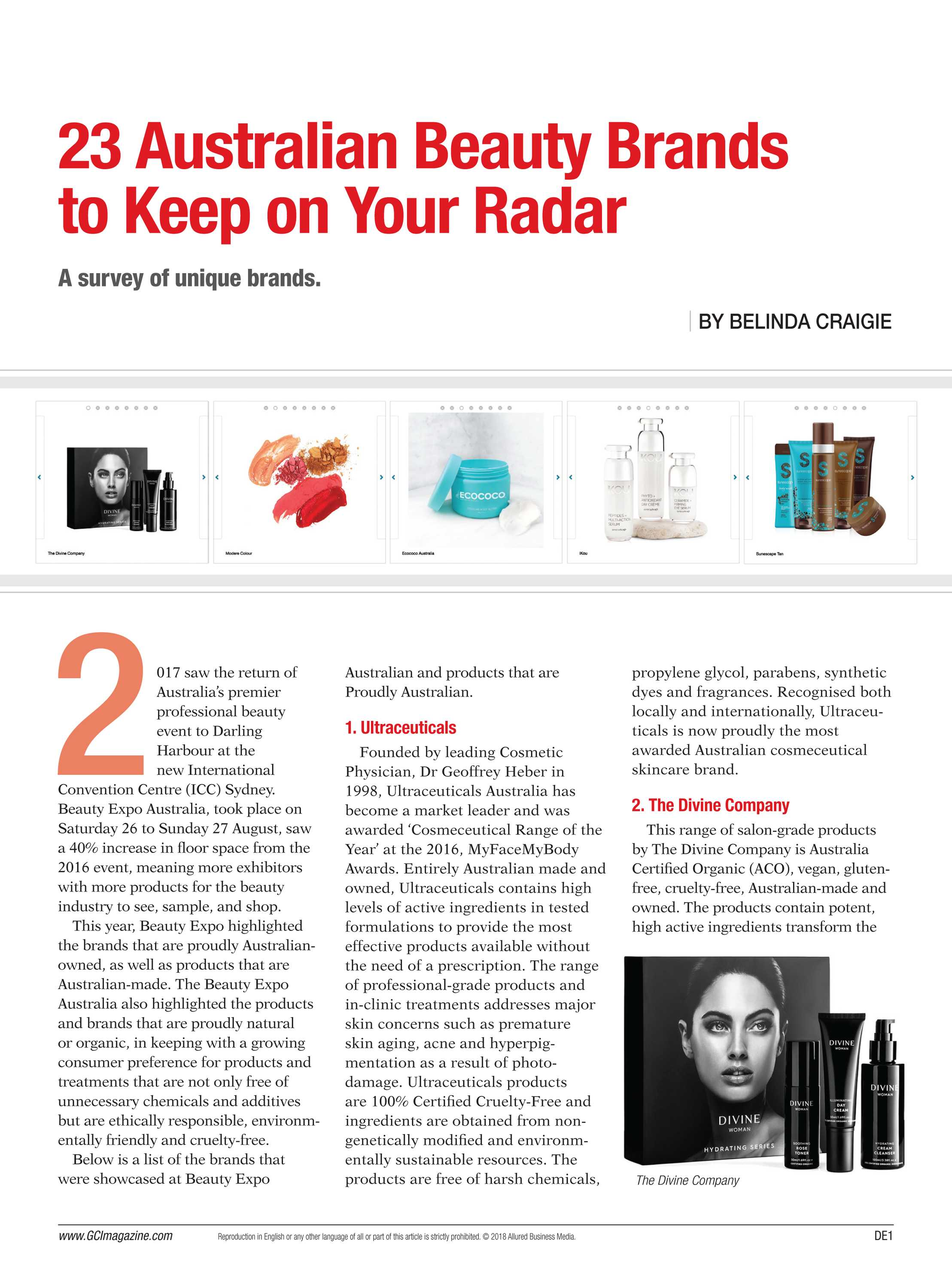 Global Cosmetic Industry Magazine - page DE1
